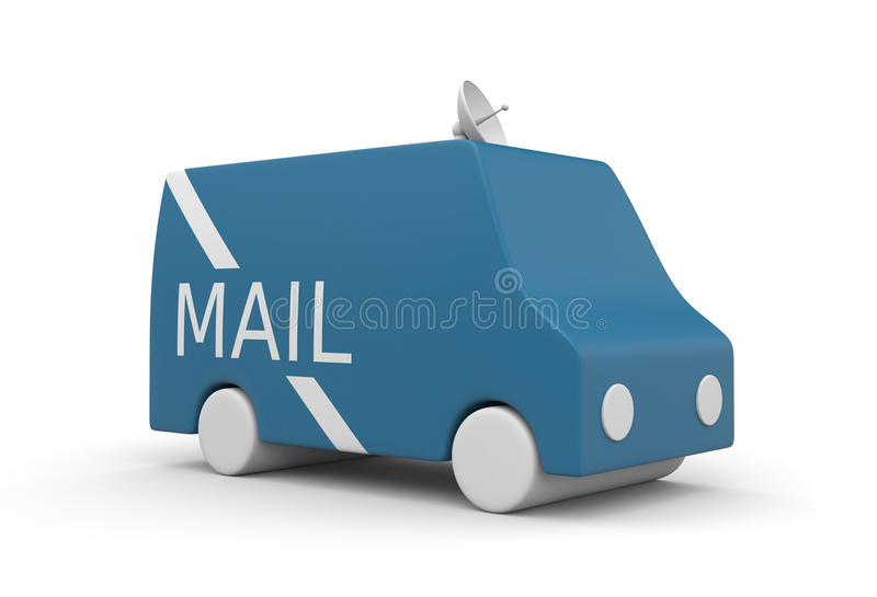 Postal Service truck stock illustration