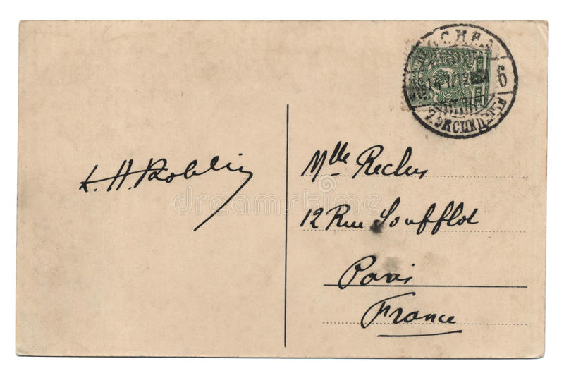 Postal vieja imagenes de archivo