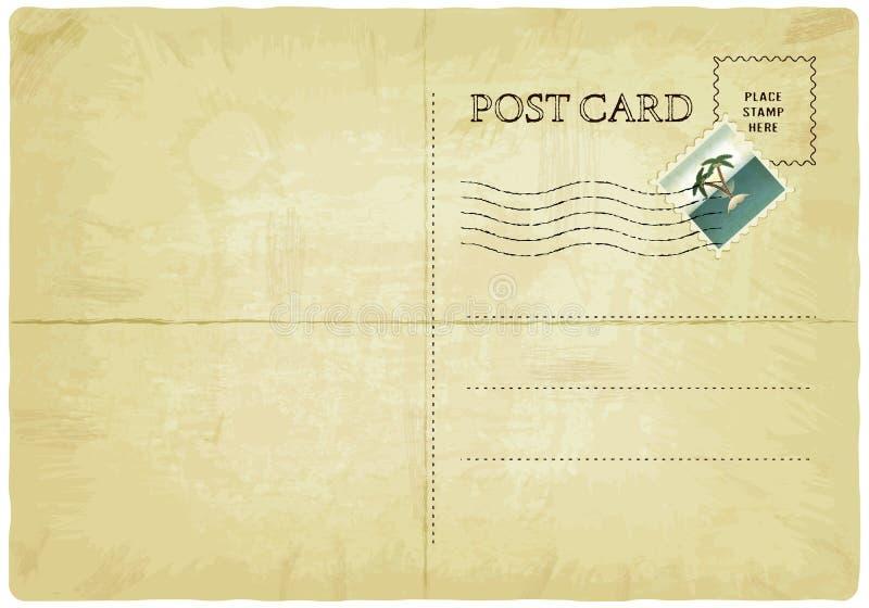 Postal vieja ilustración del vector