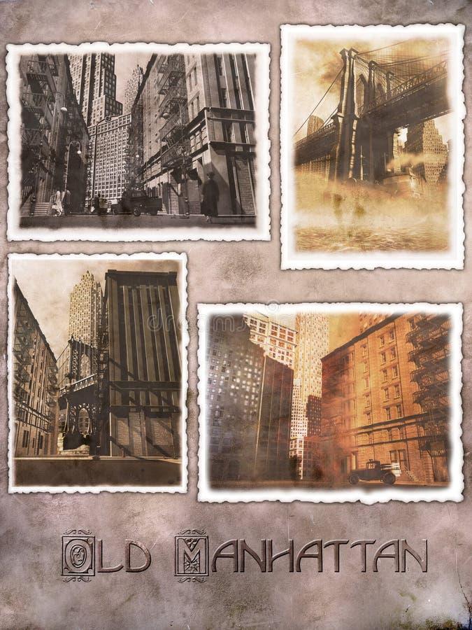 Postales digitales de Manhattan libre illustration