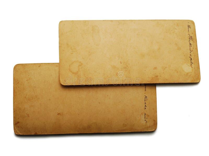 Postales viejas fotografía de archivo libre de regalías