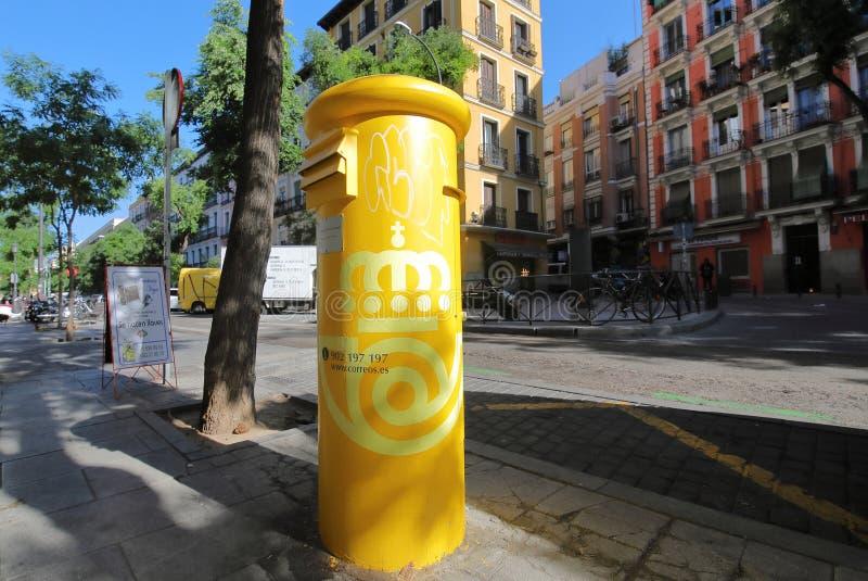 Postamt Postfach Madrid Spanien lizenzfreies stockfoto