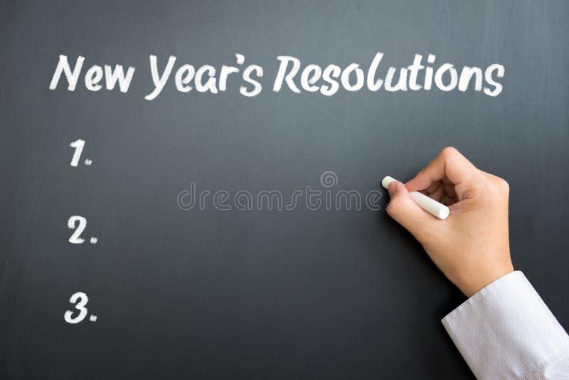postanowienie nowy rok fotografia stock
