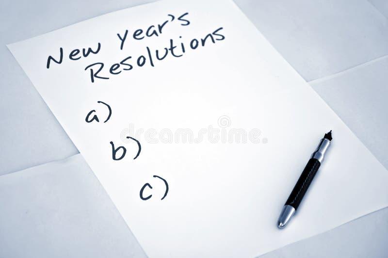 postanowienie pusty nowy rok obrazy royalty free