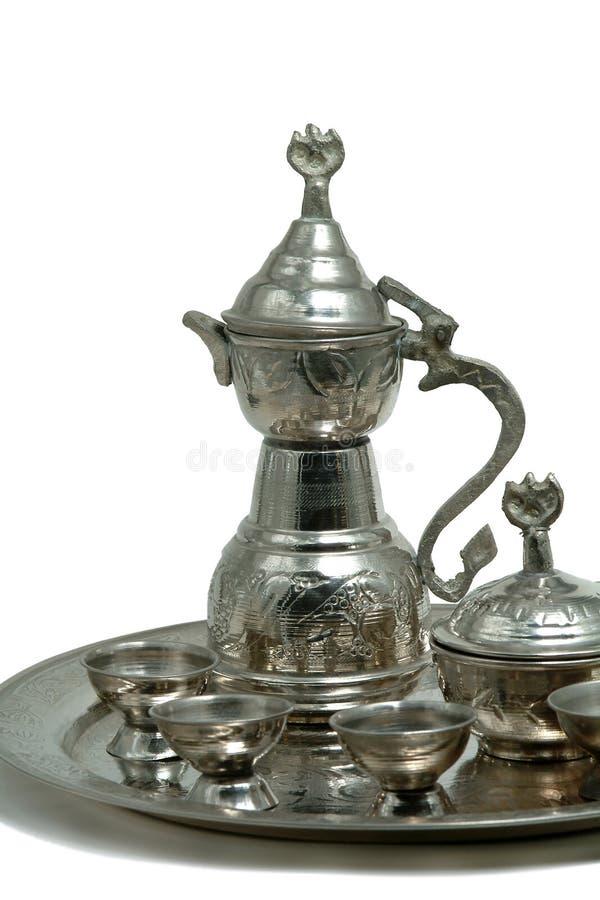 postawił srebrna herbaty zdjęcia royalty free