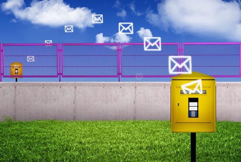 Postbestelling stock illustratie