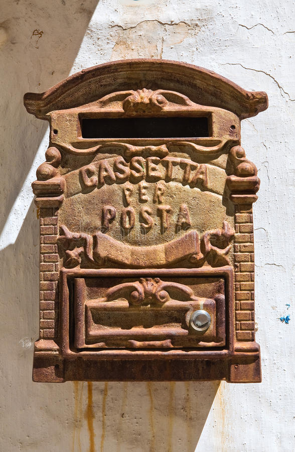 Postbox. Close up of a post box royalty free stock image
