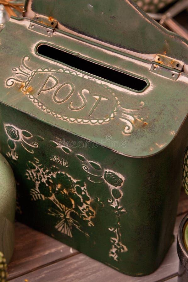Postbox do vintage fotografia de stock