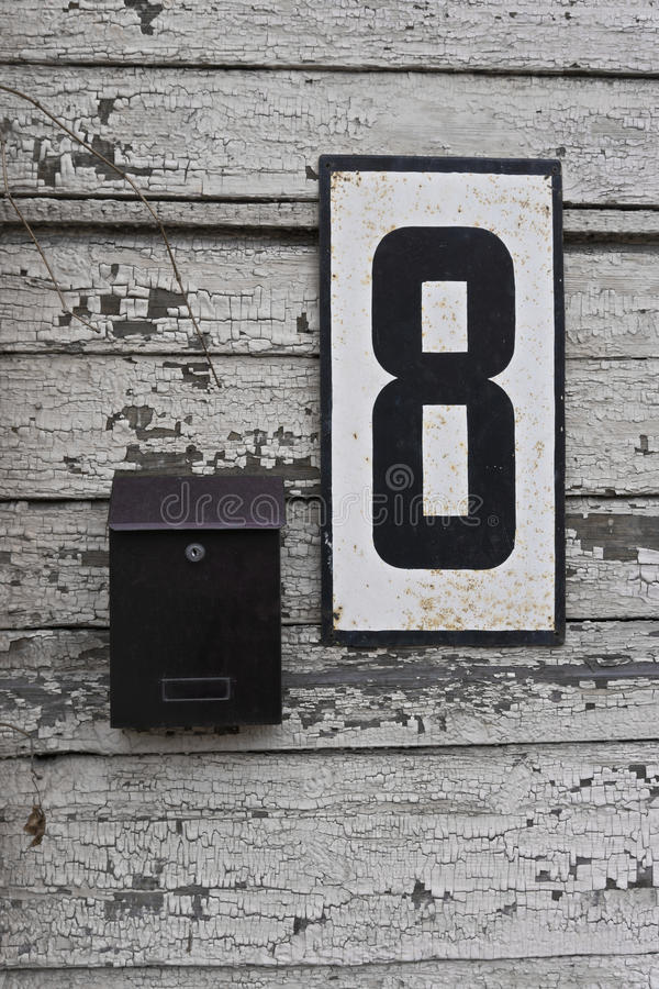 Old fashioned house numbers 1