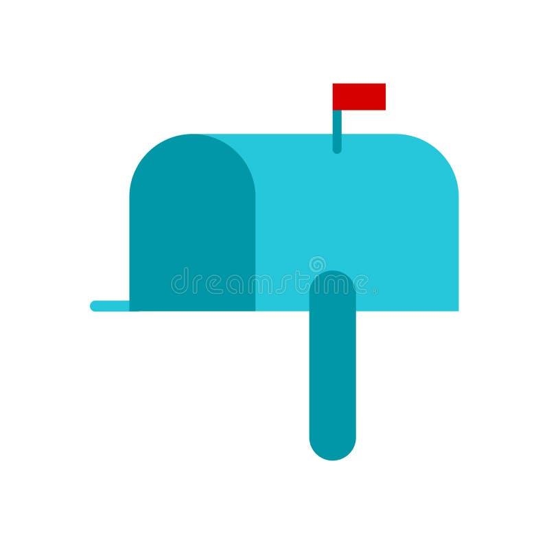 Postbox ikony wektor odizolowywający na białym tle, Postbox znak, doręczeniowi symbole ilustracji