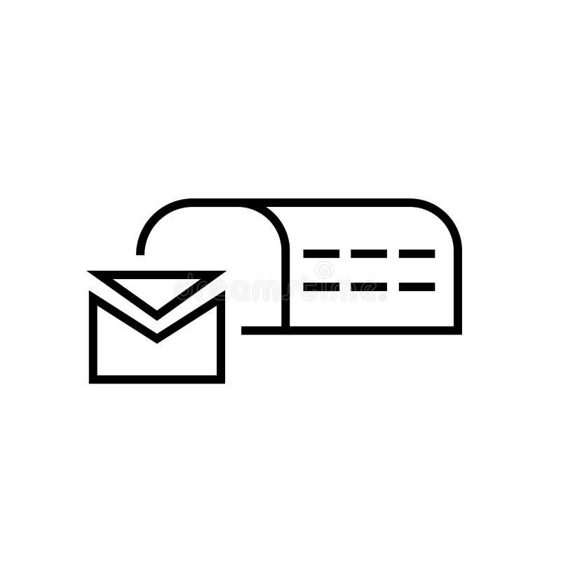 Postbox ikony wektoru znak i symbol odizolowywający na białym tle, Postbox logo pojęcie ilustracja wektor