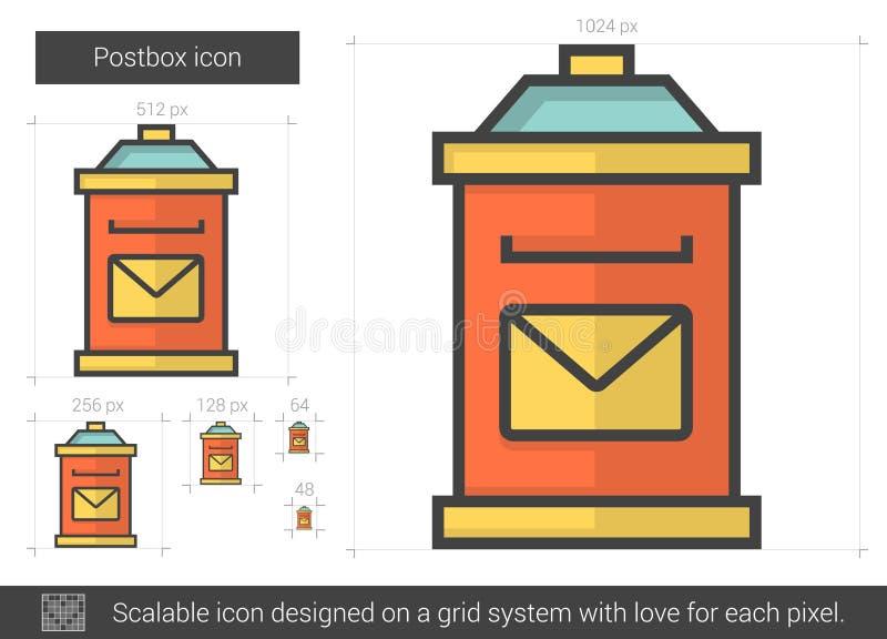Postbox kreskowa ikona ilustracji