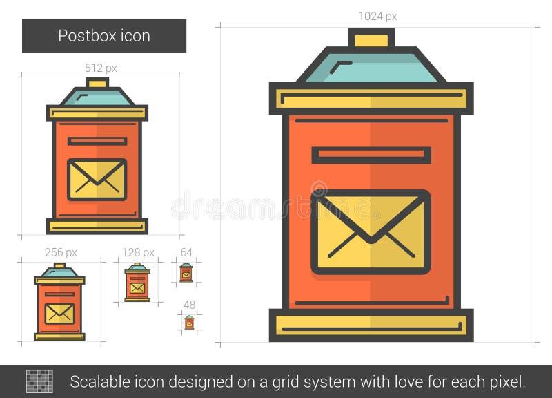 Postbox kreskowa ikona royalty ilustracja