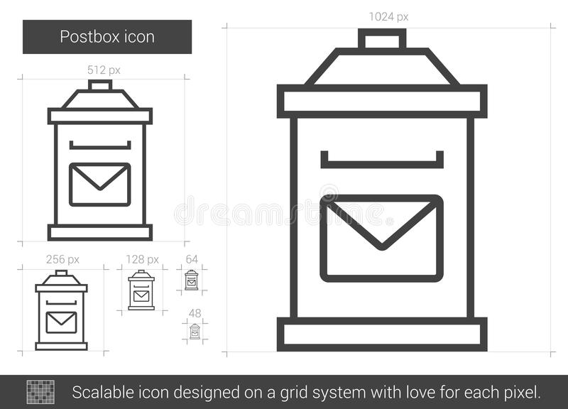 Postbox kreskowa ikona ilustracja wektor