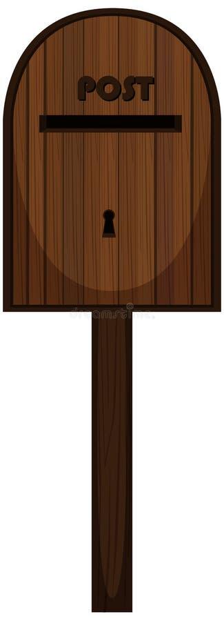 Postbox robić drewno ilustracja wektor