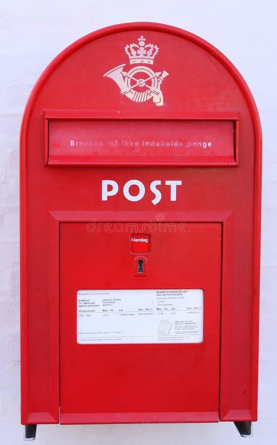 Postbox rosso immagini stock