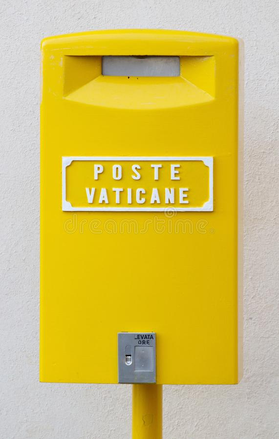 Postbox of the Vatican Postal Service stock photo