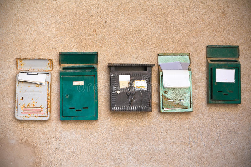 Postboxes. stock afbeeldingen