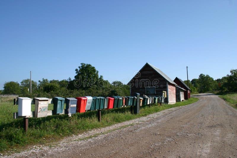 postboxes fotografering för bildbyråer