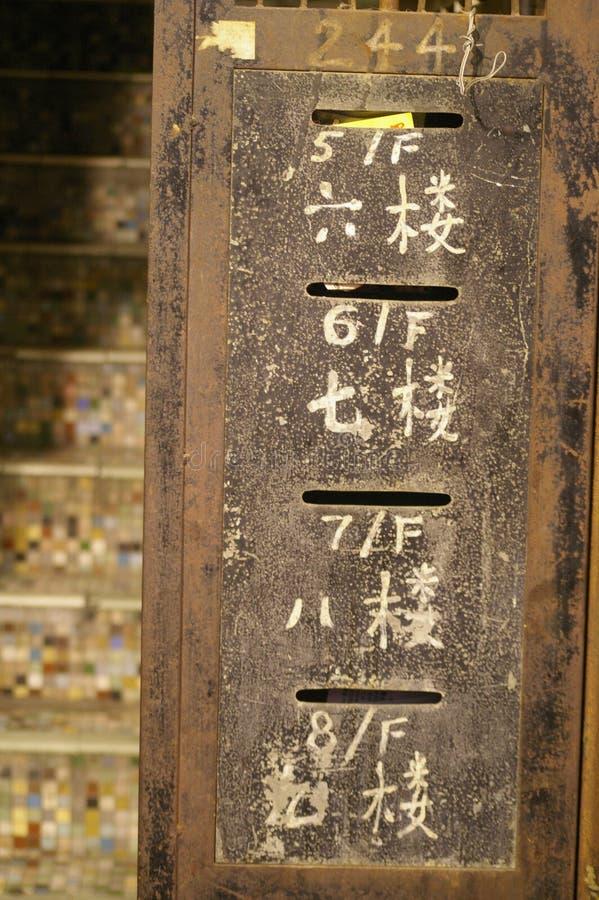 Postboxes cinesi immagine stock libera da diritti
