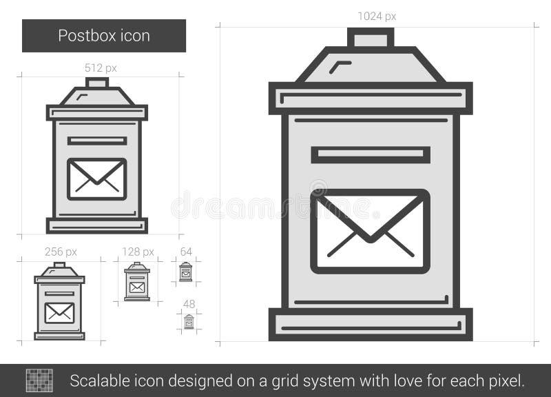 Postboxlinje symbol royaltyfri illustrationer