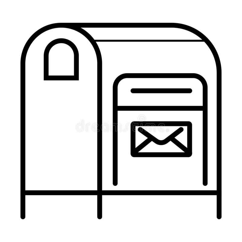Postboxsymbolsvektor vektor illustrationer