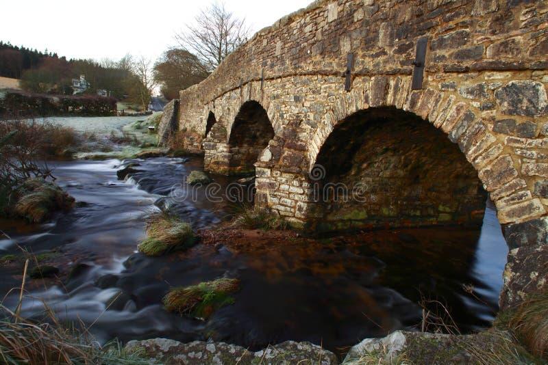 Postbridge är en hamlet i hjärtat av Dartmoor royaltyfria bilder