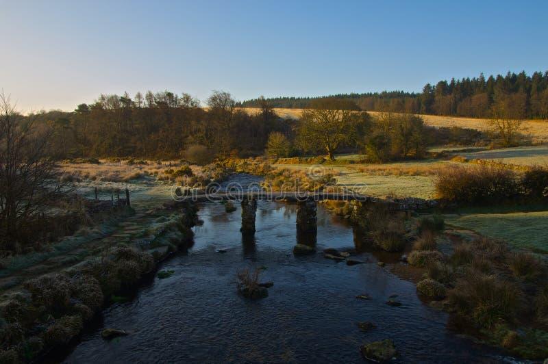 Postbridge Dartmoor arkivbild