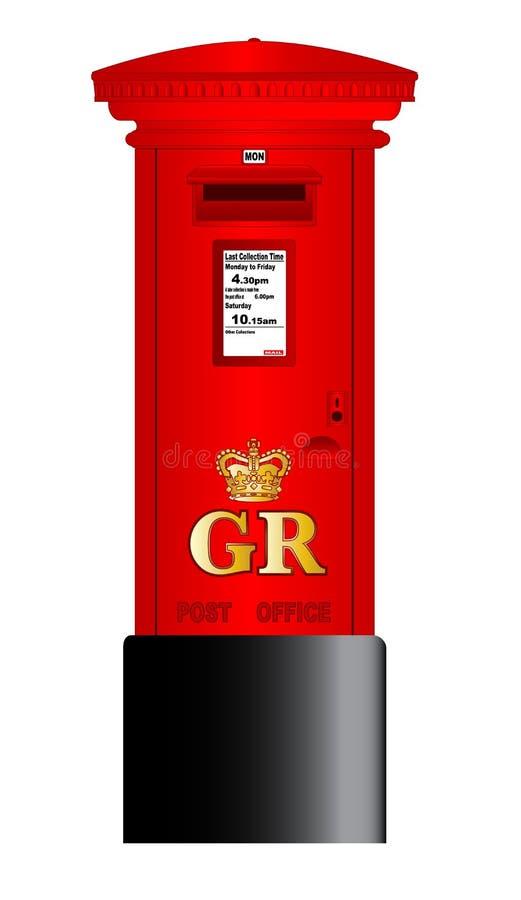 Postbus royalty-vrije illustratie