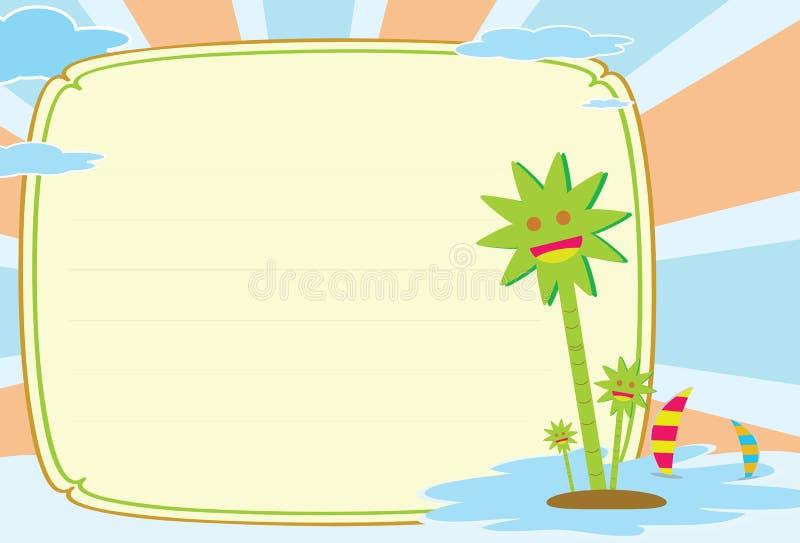 Download Postcard stock illustration. Image of notice, island - 16420539
