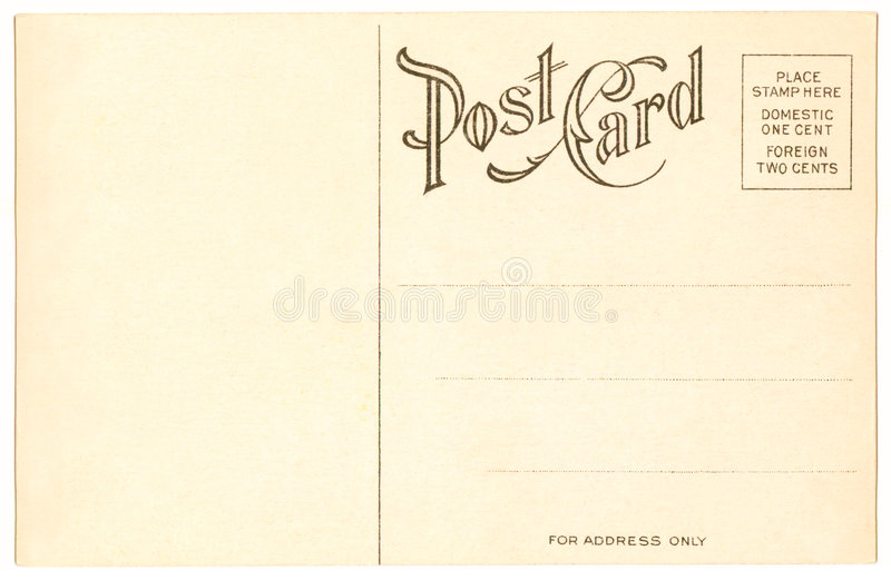 Postcard - 1904 stock photography
