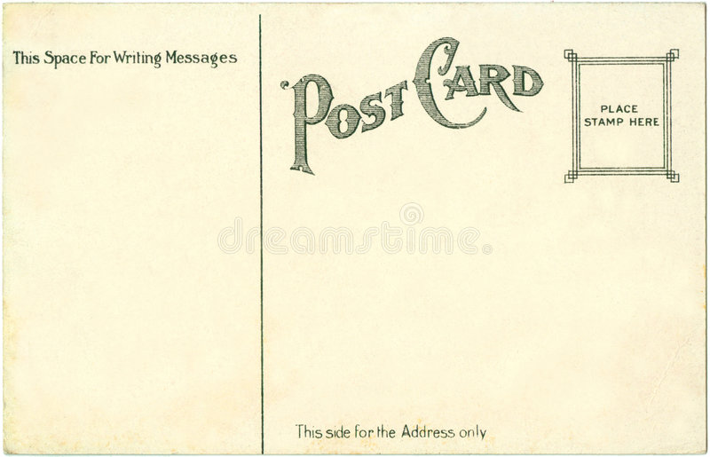 Postcard - 1917. Postcard from 1917 - great typeface stock photo
