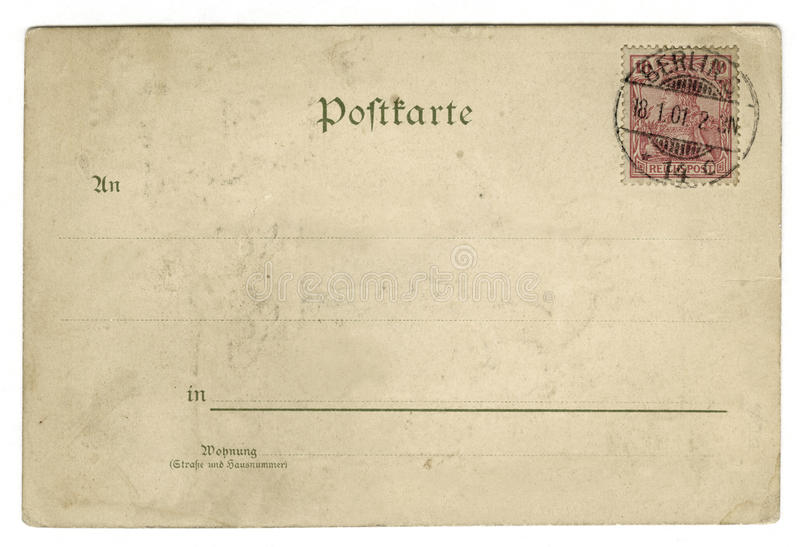 postcard photographie stock