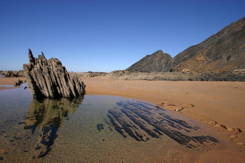 Postcard of Algarve - Portugal stock photos