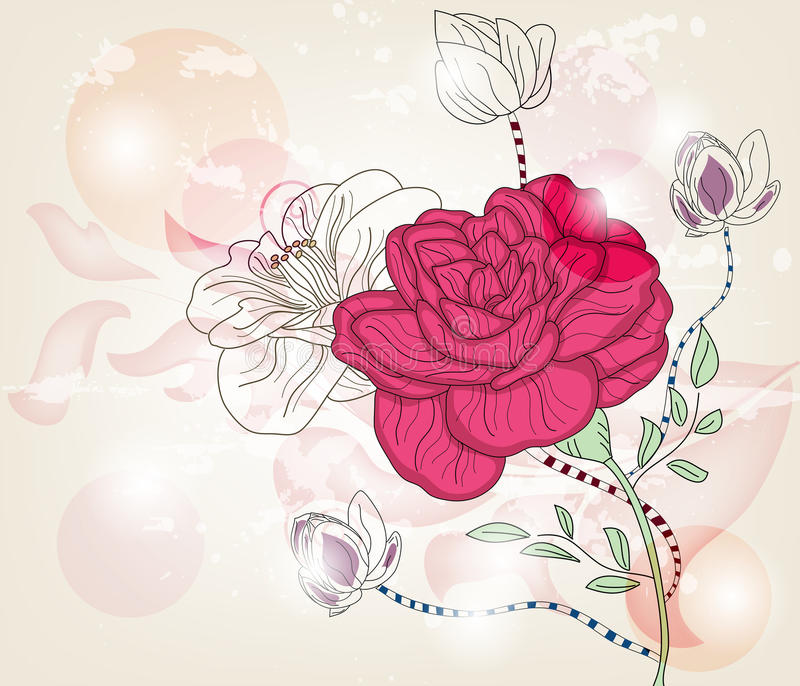 Download Postcard With Big Rose Royalty Free Stock Photography - Image: 22988807