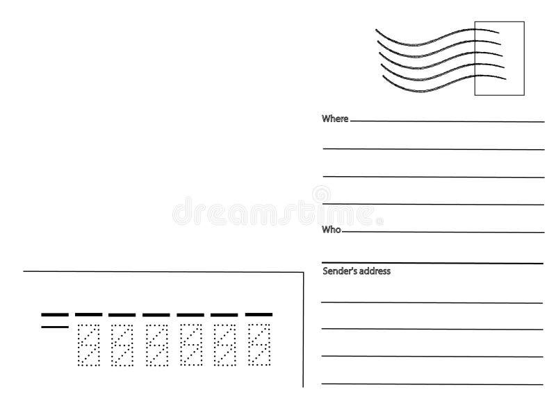 Download Postcard, blank stock vector. Illustration of post, line - 17761905
