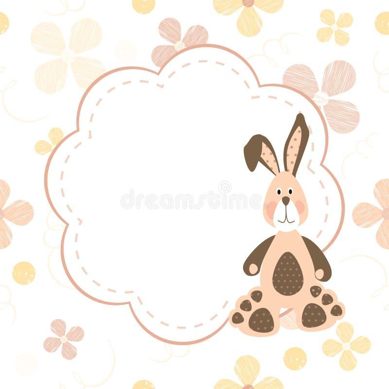 Postcard With Bunny Royalty Free Stock Photos