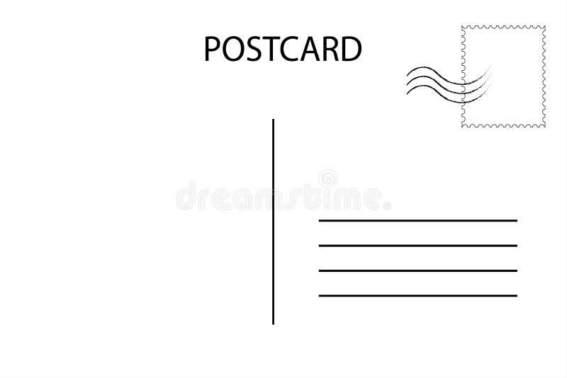 postcard Cartão postal para o curso Molde vazio do correio aéreo ilustração royalty free