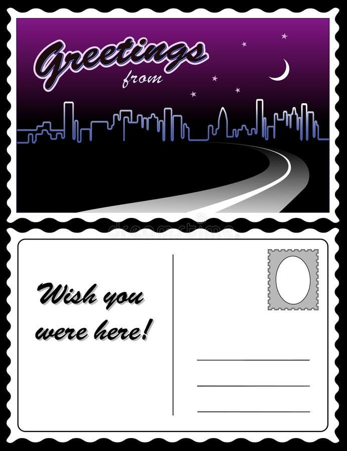 Free Postcard, City Skyline Royalty Free Stock Photo - 17581965