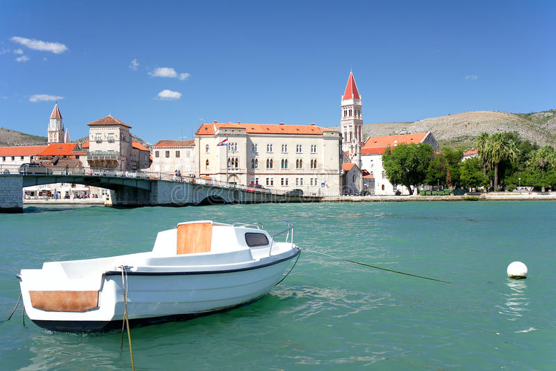 Postcard from Croatia, Trogir royalty free stock photography