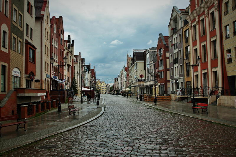 Postcard from Elblag royalty free stock images
