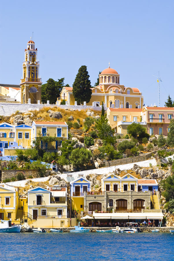 Download Postcard From Gialos Town Royalty Free Stock Photos - Image: 10523398