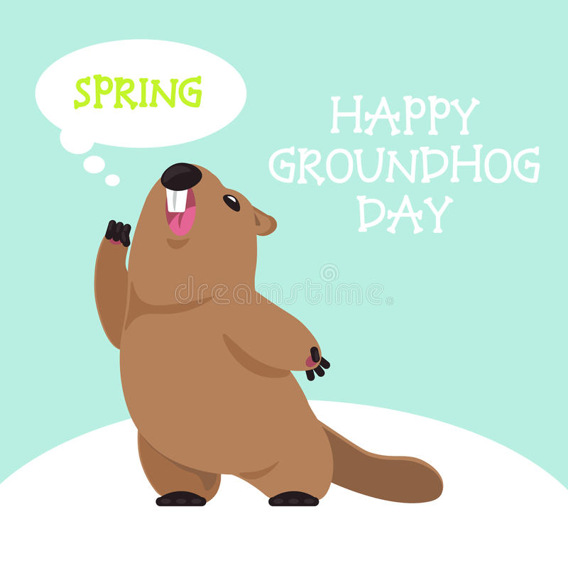 Postcard Groundhog Day stock images