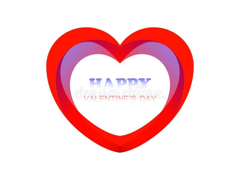 Postcard Happy Valentine stock image