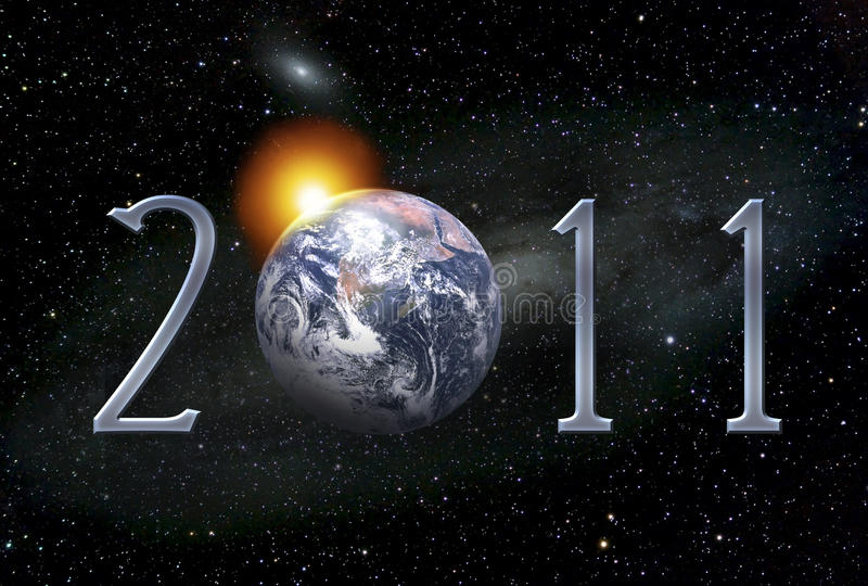 Postcard Illustration For 2011 New Year Royalty Free Stock Photography