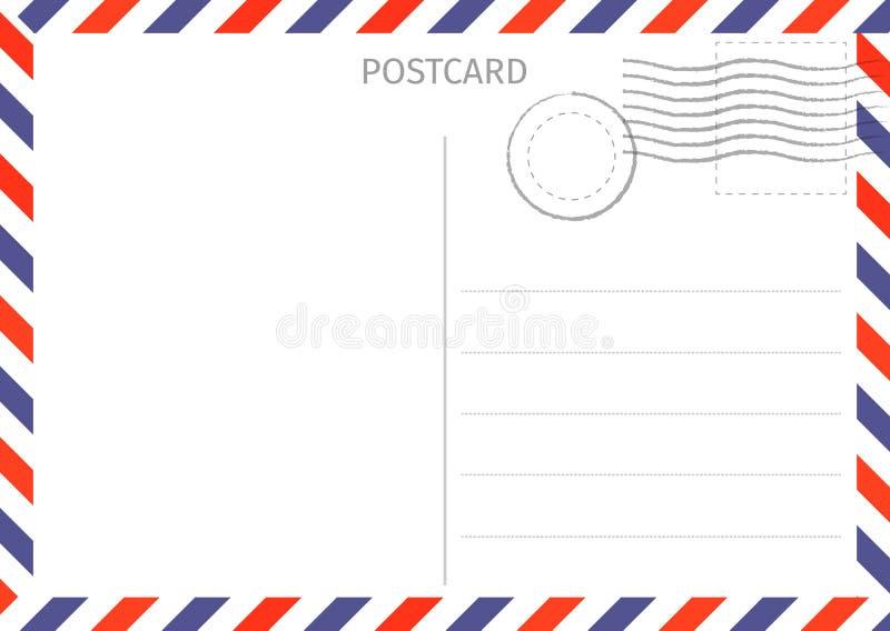 postcard La poste aérienne Illustration de carte postale pour la conception Voyage illustration de vecteur
