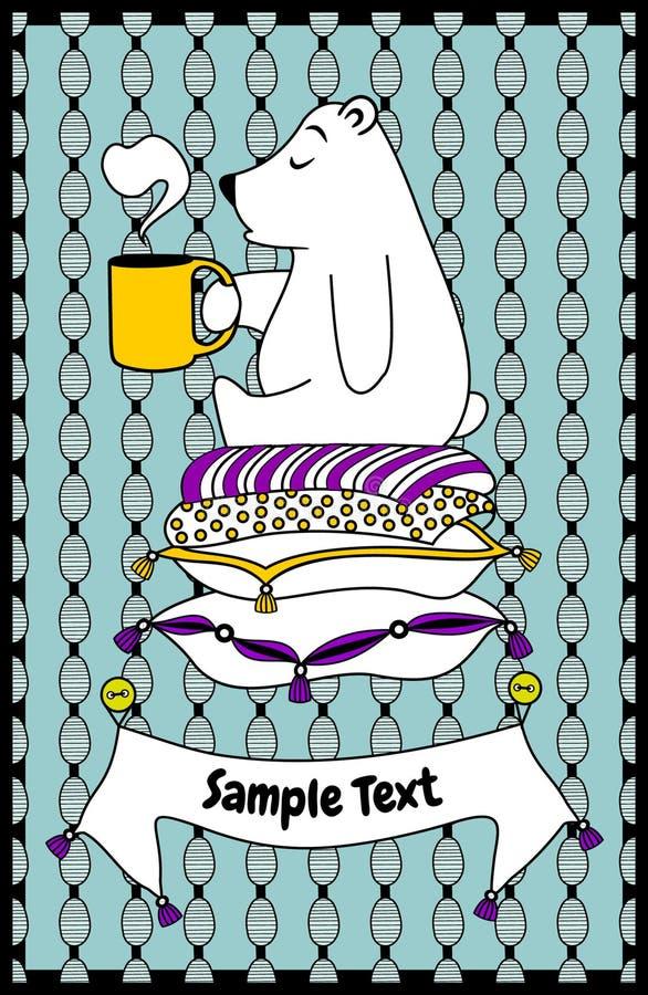 Download Postcard little bear stock illustration. Illustration of coffee - 31538145
