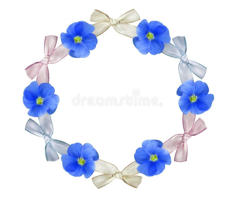 Wreath with flowers. royalty free illustration