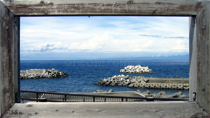 Postcard from the ocean royalty free stock photography