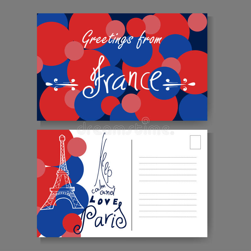 Postcard from paris hand drawn lettering and sketch greetings from download postcard from paris hand drawn lettering and sketch greetings from france vector m4hsunfo